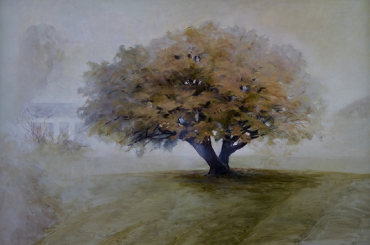 StoreGal/store/Oil/Tree in fog 36x24.jpg