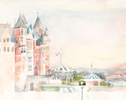 StoreGal/store/Watercolor/_thb_Frontenac Castle Quebec 14x11.jpg