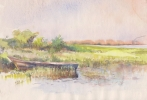StoreGal/store/Watercolor/_thb_Landscape with boat.jpg