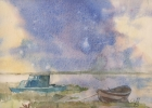 StoreGal/store/Watercolor/_thb_Landscape with boats.jpg