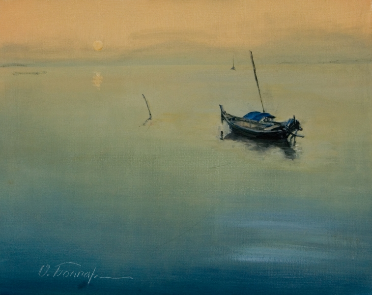 gal/fineart/Landscape/A boat at sunset (20x16).jpg