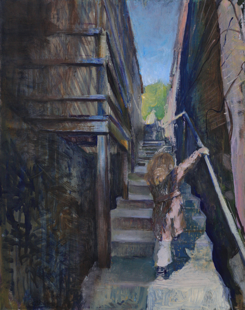 gal/fineart/Portrait and figure/Girl on stairs Ellicott City.jpg